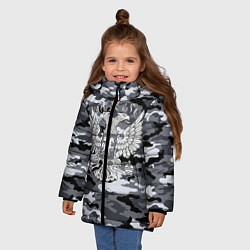 Куртка зимняя для девочки Городской камуфляж Россия - фото 2