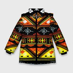 Куртка зимняя для девочки Element ethnic цвета 3D-черный — фото 1