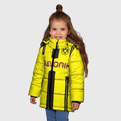 Куртка зимняя для девочки BVB FC: Evonik цвета 3D-черный — фото 2