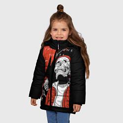 Куртка зимняя для девочки Twenty one pilots: Skulls цвета 3D-черный — фото 2
