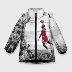 Куртка зимняя для девочки Michael Jordan NBA цвета 3D-черный — фото 1