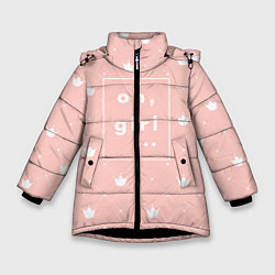 Куртка зимняя для девочки Oh, girl цвета 3D-черный — фото 1