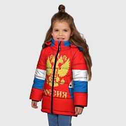 Куртка зимняя для девочки Сборная РФ: #8 OVECHKIN цвета 3D-черный — фото 2