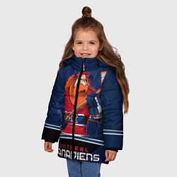 Детская зимняя куртка для девочки с принтом Montreal Canadiens, цвет: 3D-черный, артикул: 10106980106065 — фото 2
