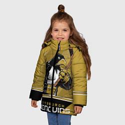 Куртка зимняя для девочки Pittsburgh Penguins цвета 3D-черный — фото 2