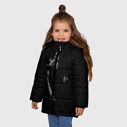 Куртка зимняя для девочки Vampire Love цвета 3D-черный — фото 2