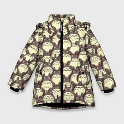 Куртка зимняя для девочки Тоторо цвета 3D-черный — фото 1