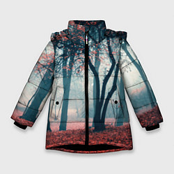 Куртка зимняя для девочки Осень цвета 3D-черный — фото 1