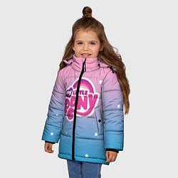 Детская зимняя куртка для девочки с принтом My Little Pony, цвет: 3D-черный, артикул: 10108222706065 — фото 2