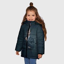Куртка зимняя для девочки Шерлок в костюме цвета 3D-черный — фото 2