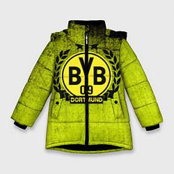 Куртка зимняя для девочки Borussia5 цвета 3D-черный — фото 1