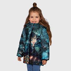 Куртка зимняя для девочки Мастера меча онлайн цвета 3D-черный — фото 2
