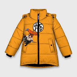 Куртка зимняя для девочки Dragon Ball цвета 3D-черный — фото 1