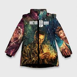 Куртка зимняя для девочки Dr who art цвета 3D-черный — фото 1
