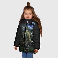 Куртка зимняя для девочки Военная разведка цвета 3D-черный — фото 2
