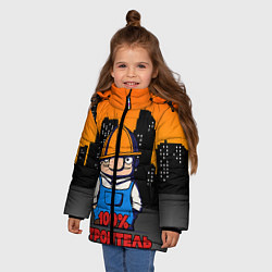 Куртка зимняя для девочки Строитель 1 цвета 3D-черный — фото 2