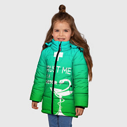 Куртка зимняя для девочки Trust me, i'm a doctor цвета 3D-черный — фото 2