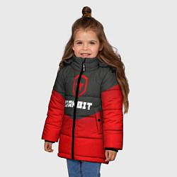 Куртка зимняя для девочки Gambit Gaming Uniform цвета 3D-черный — фото 2