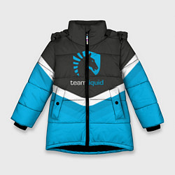 Детская зимняя куртка для девочки с принтом Team Liquid Uniform, цвет: 3D-черный, артикул: 10111391006065 — фото 1