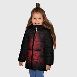 Куртка зимняя для девочки Alien: Space Ship цвета 3D-черный — фото 2