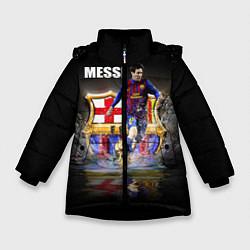 Куртка зимняя для девочки Messi FCB цвета 3D-черный — фото 1