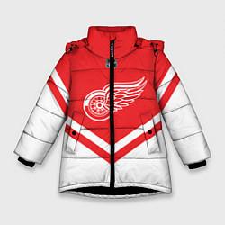 Куртка зимняя для девочки NHL: Detroit Red Wings цвета 3D-черный — фото 1