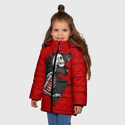 Куртка зимняя для девочки Wolf Rage цвета 3D-черный — фото 2