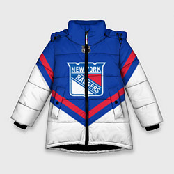 Куртка зимняя для девочки NHL: New York Rangers цвета 3D-черный — фото 1