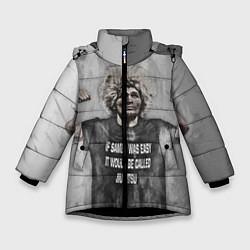 Куртка зимняя для девочки Нурмагомедов Хабиб цвета 3D-черный — фото 1