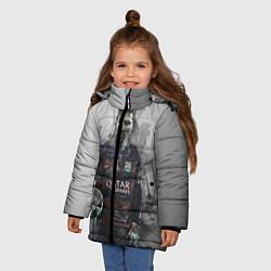 Детская зимняя куртка для девочки с принтом Lionel Messi, цвет: 3D-черный, артикул: 10113185306065 — фото 2