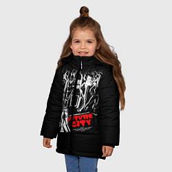 Куртка зимняя для девочки Future City цвета 3D-черный — фото 2