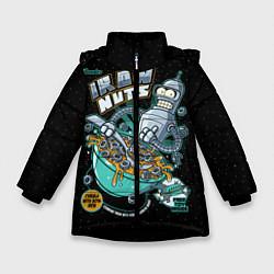 Куртка зимняя для девочки Iron Nuts цвета 3D-черный — фото 1