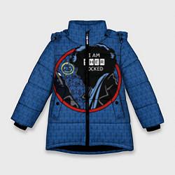 Куртка зимняя для девочки I am Sherlocked цвета 3D-черный — фото 1