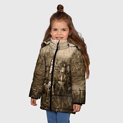 Куртка зимняя для девочки Slipknot Sepia цвета 3D-черный — фото 2