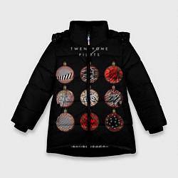 Куртка зимняя для девочки Twenty One Pilots: New year цвета 3D-черный — фото 1