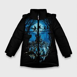 Детская зимняя куртка для девочки с принтом Zombie Island, цвет: 3D-черный, артикул: 10114556906065 — фото 1