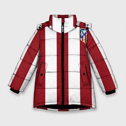 Куртка зимняя для девочки Атлетико Мадрид цвета 3D-черный — фото 1