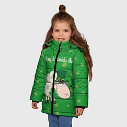 Куртка зимняя для девочки Ирландия цвета 3D-черный — фото 2