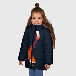 Куртка зимняя для девочки Хитрая лисичка цвета 3D-черный — фото 2