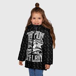 Куртка зимняя для девочки Champions Train цвета 3D-черный — фото 2