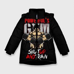 Куртка зимняя для девочки Powerful Gym цвета 3D-черный — фото 1