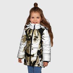 Куртка зимняя для девочки Bob Marley: Mono цвета 3D-черный — фото 2