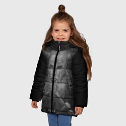Куртка зимняя для девочки Олаф цвета 3D-черный — фото 2