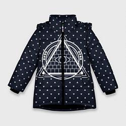 Куртка зимняя для девочки Illuminati цвета 3D-черный — фото 1