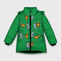 Куртка зимняя для девочки Боевая морковь цвета 3D-черный — фото 1