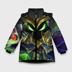 Куртка зимняя для девочки Вейгар цвета 3D-черный — фото 1