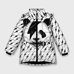 Куртка зимняя для девочки Панда вокалист цвета 3D-черный — фото 1
