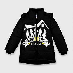 Детская зимняя куртка для девочки с принтом Brazzers House, цвет: 3D-черный, артикул: 10117837706065 — фото 1