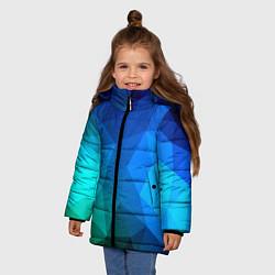 Куртка зимняя для девочки Fight Polygon цвета 3D-черный — фото 2