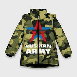 Куртка зимняя для девочки Russian army цвета 3D-черный — фото 1